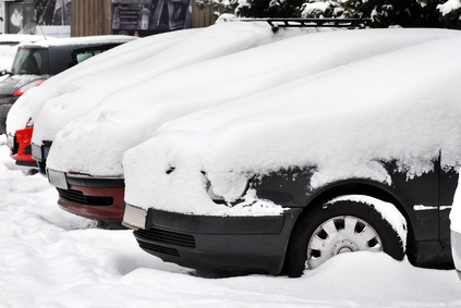 Cars at snow