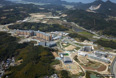 移転中の九州大学。本当に巨大です。