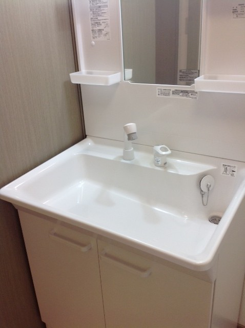 大きな洗面台