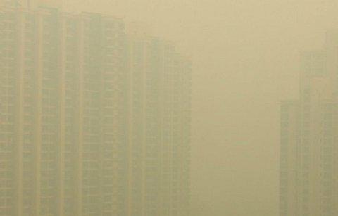 pm2.5で覆われた上海