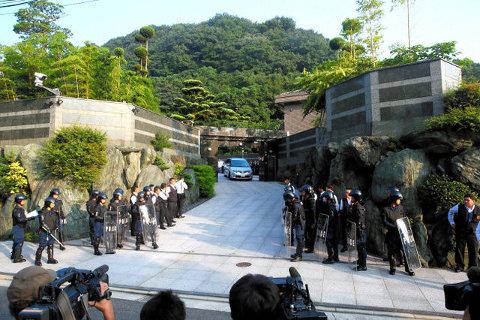 工藤会総裁野村悟容疑者の自宅。